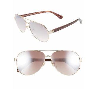 Kate Spade Genevas gradient aviator sunglasses